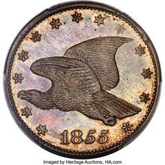 1855 Experimental Alloy Cent obverse