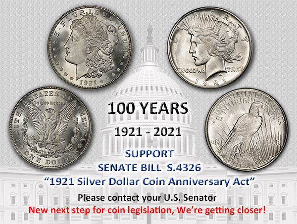 1921 Silver Coin Anniversary Act Senate