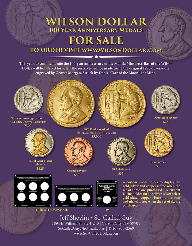 Shevlin E-Sylum ad 2020-10-04b Wilson Dollar