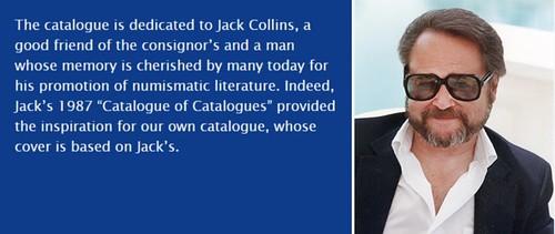 Jack Collins catalog dedication with photo