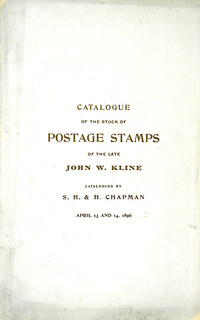 Chapman Kline Postage Stamp catalog cover