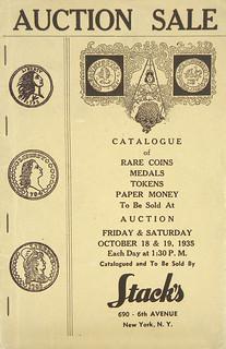 Stacks October 1935 catalog cover