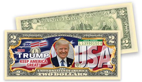 Trump colorized $2 bill
