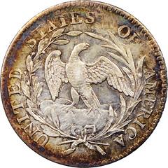 1797 Dime 16 Stars reverse