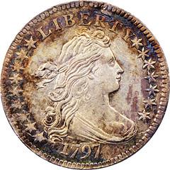 1797 Dime 16 Stars obverse