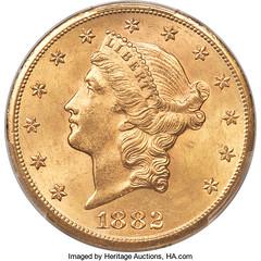 Storck 1882-CC Double Eagle obverse