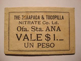 Chilean Nitrate Token cardboard