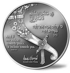 Abraham Accord Medal reverse