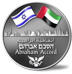 Abraham Accord Medal obverse