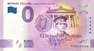 Michael Collins souvenir banknote