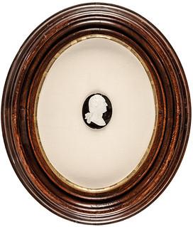 Oval George Washington Portrait Medallion framed