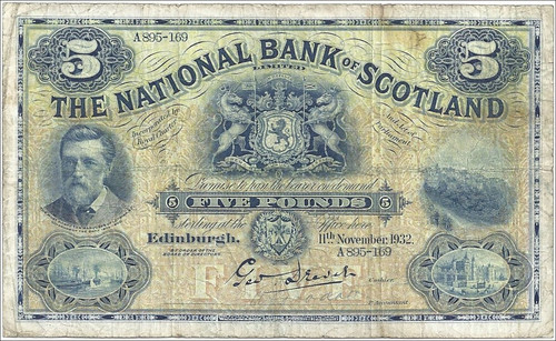 National Bank of Scotland Five Pound note