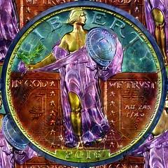 Edwin Johnson Money Art 3 Standing Liberty
