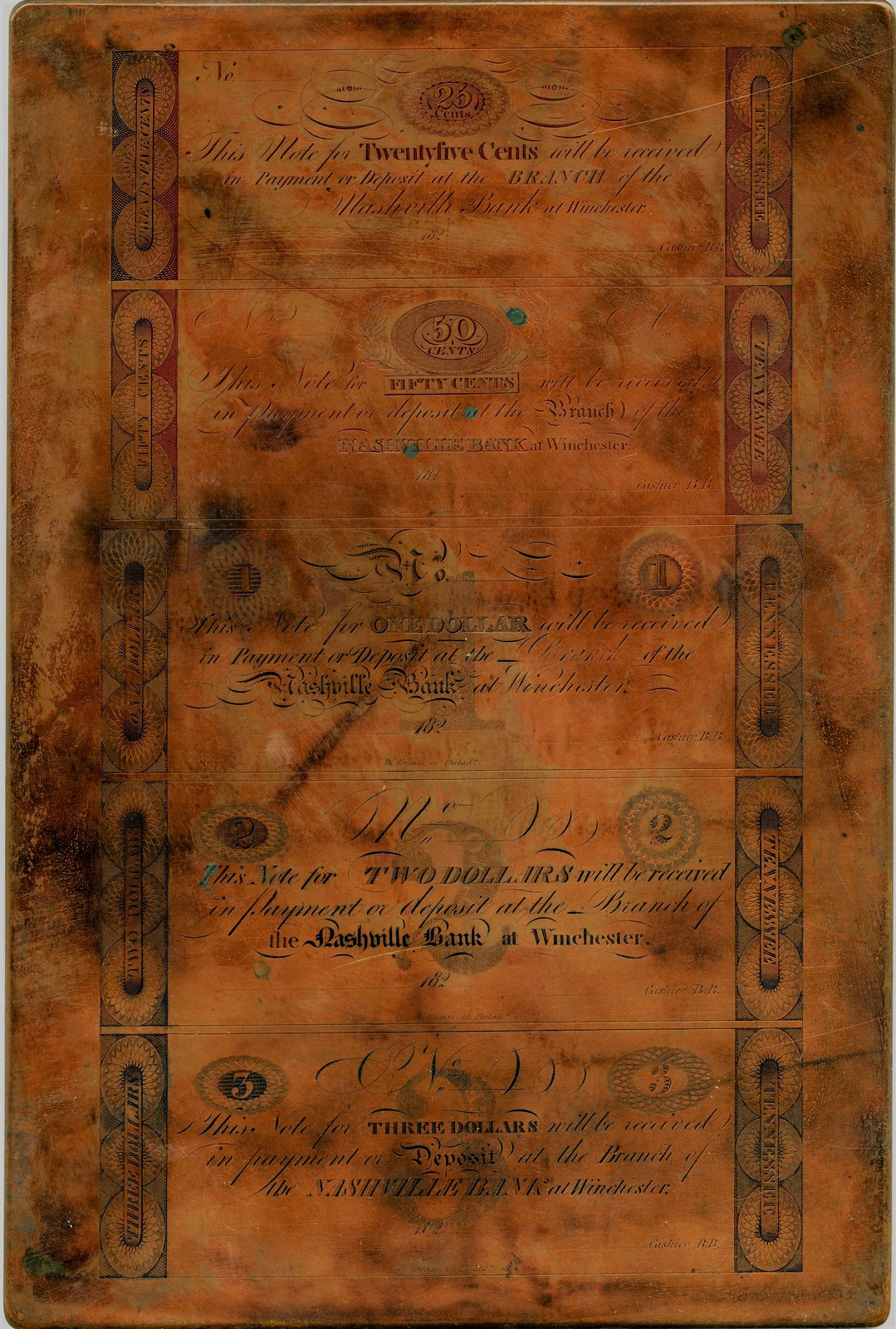 Kneass, Tennessee copper plate 931891_1