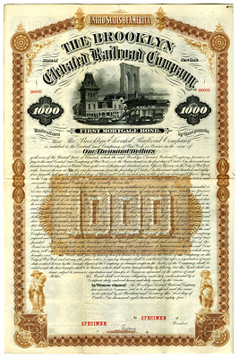 Lot 714. Brooklyn Elevated Railroad Co. 1884