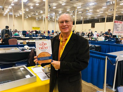 PAN 2020 Fall show Bill Bierly with book