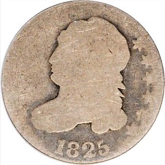 Poor 1825 Capped Bust Dime obverse