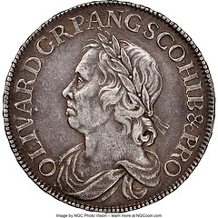Oliver Cromwell Crown 1658_7 XF45 NGC_Heritage_Auctions_1