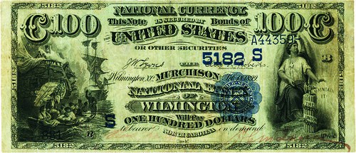 1882 Murchison National Bank Date Back $100 front