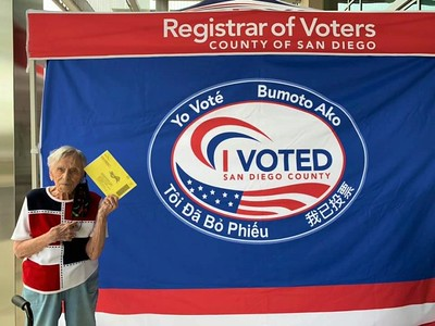 Dorothy Baber votes 2020