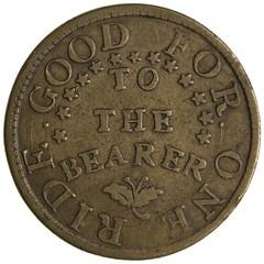 1831 John Gibbs stage token reverse
