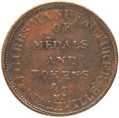 J Gibbs Manusacturer of medals and tokens token obverse