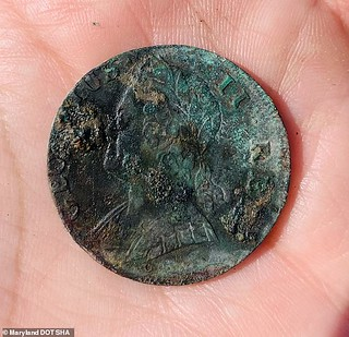 coin found at newtown maryland slave quarters