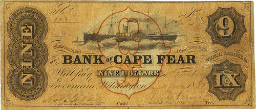 Bank of Cape Fear Branch at Salisbury $9
