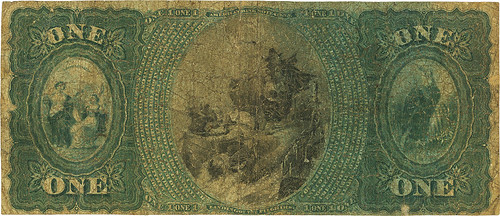 1875 Fayetteville, NC Peoples National Bank $1 back