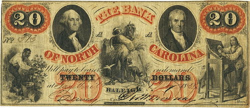 Bank of North Carolina Fayetteville $20