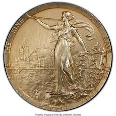 1902 Edward VII Specimen Coronation Medal obverse