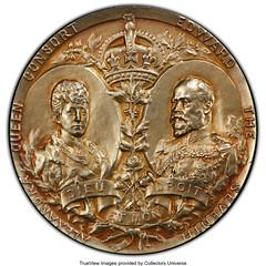 1902 Edward VII Specimen Coronation Medal reverse