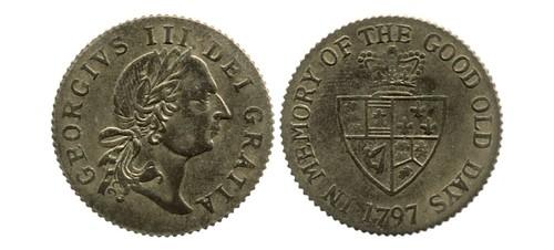 1797 George III Good Old Days gaming token