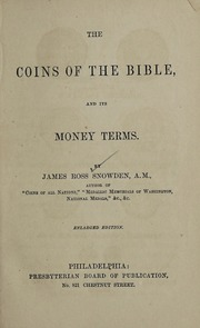 1864 Snowden Coins of the Bible title page