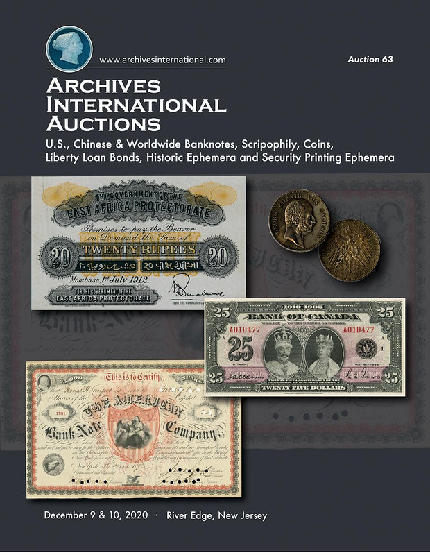 Archives International Sale 63 cover front