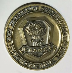 New Hampshire State Grange Centennial medal obverse