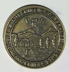 New Hampshire State Grange Centennial medal reverse