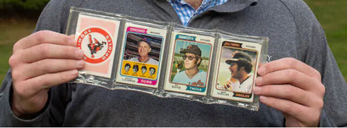 Eddie Healy with the 1974 Topps rack pack
