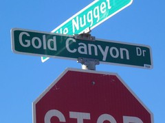 Gold Canyon street sign