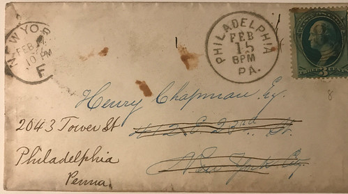 Lupia addressed to Henry Chapman