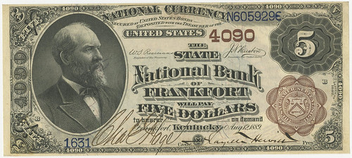 Frankfort KY State National Bank $5 note