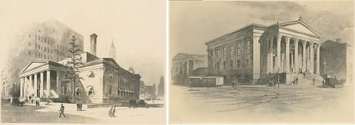 2nd US Mint Philadelphia - Two Grecian Temples