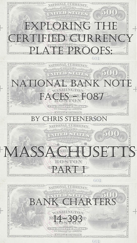 Currency Plate Proofs Massachusetts Part 1