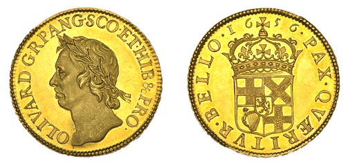 DNW 2021-01-21 LOT 1142 - Oliver Cromwell 50 shilling gold coin 1