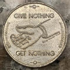 Zero cents token obverse