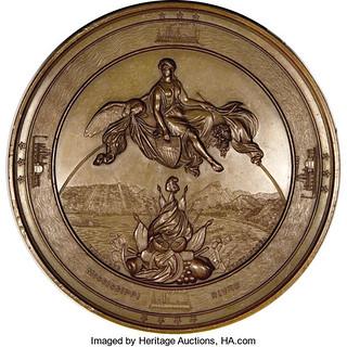 1863 U.S. Grant Vicksburg medal reverse