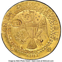 1787 New York-Style Brasher Doubloon EB on Wing reverse