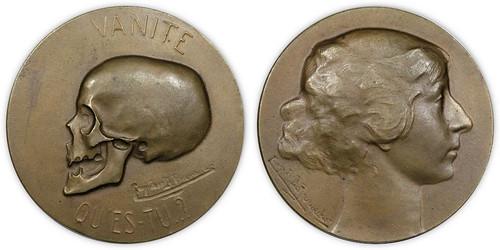 Belgium Vanity skull medal
