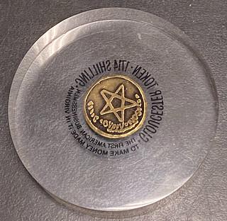 encased Gloucester Shilling reverse