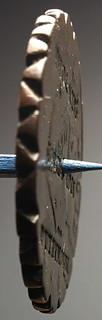 MACKRELL-RICHARDSON 1819 counterstamped Large Cent pie crimper edge-3a